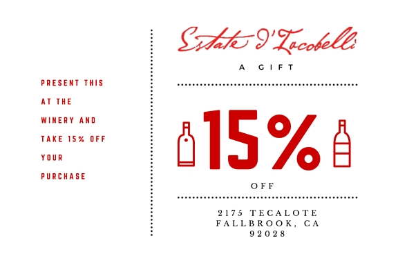 Estate 15 percent off 2016